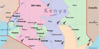 kenya kart Kenya kart   Kart Kenya (Øst Afrika   Afrika)